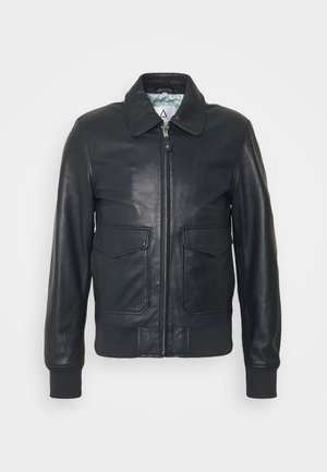 STYLE - Leather jacket - navy