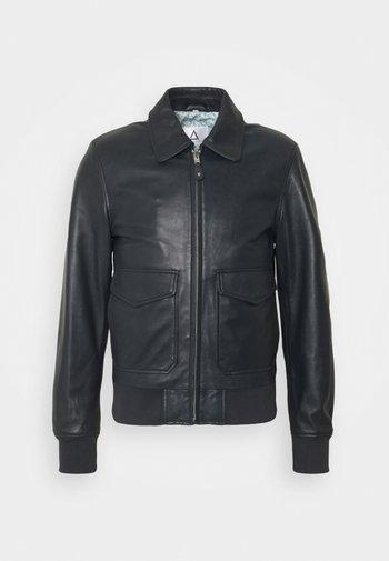 STYLE - Leather jacket - navy
