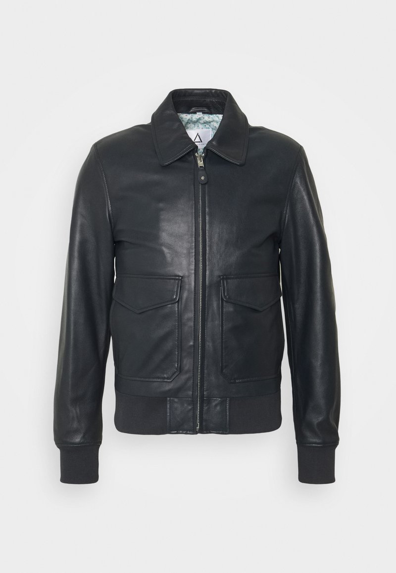 Serge Pariente - STYLE - Leather jacket - navy