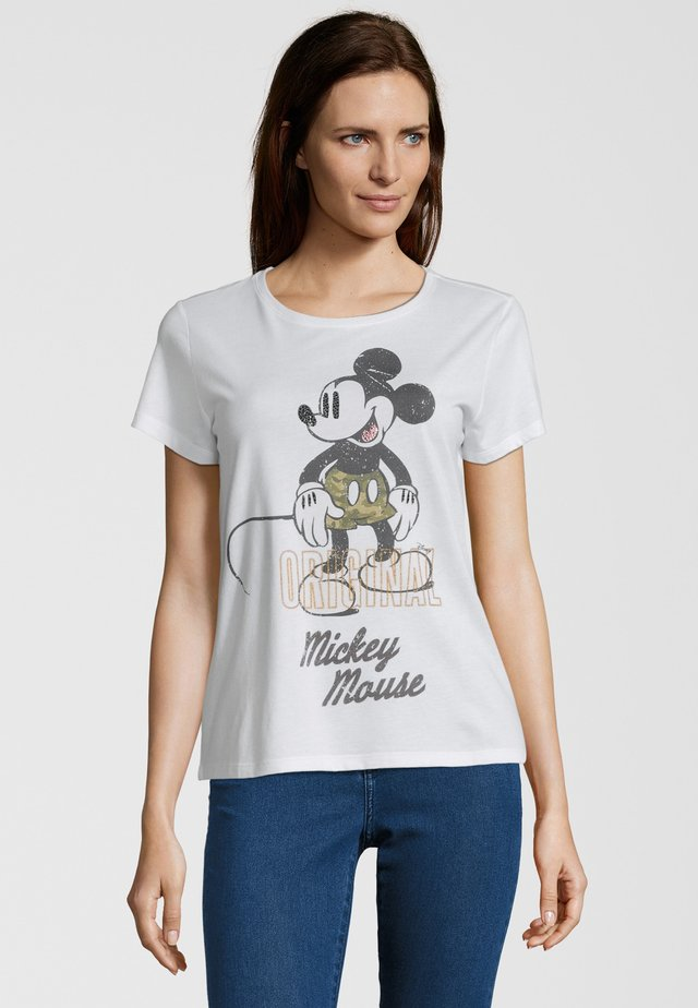 MICKEY ORIGINAL - T-shirt imprimé - clear whit