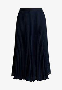 Banana Republic - PLEATED SOLID MIDI SKIRT - A-line skirt - navy - 6