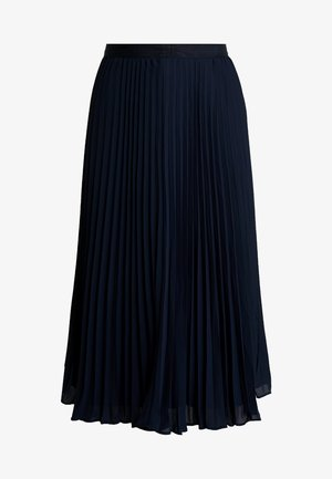 PLEATED SOLID MIDI SKIRT - Áčková sukně - navy