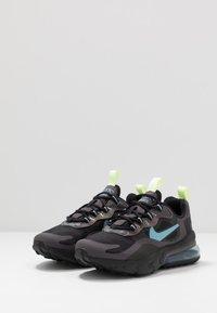 Nike Sportswear - AIR MAX 270 REACT - Sneakers basse - black/cerulean/thunder grey/barely volt - 3