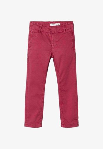 Pantalones chinos - earth red