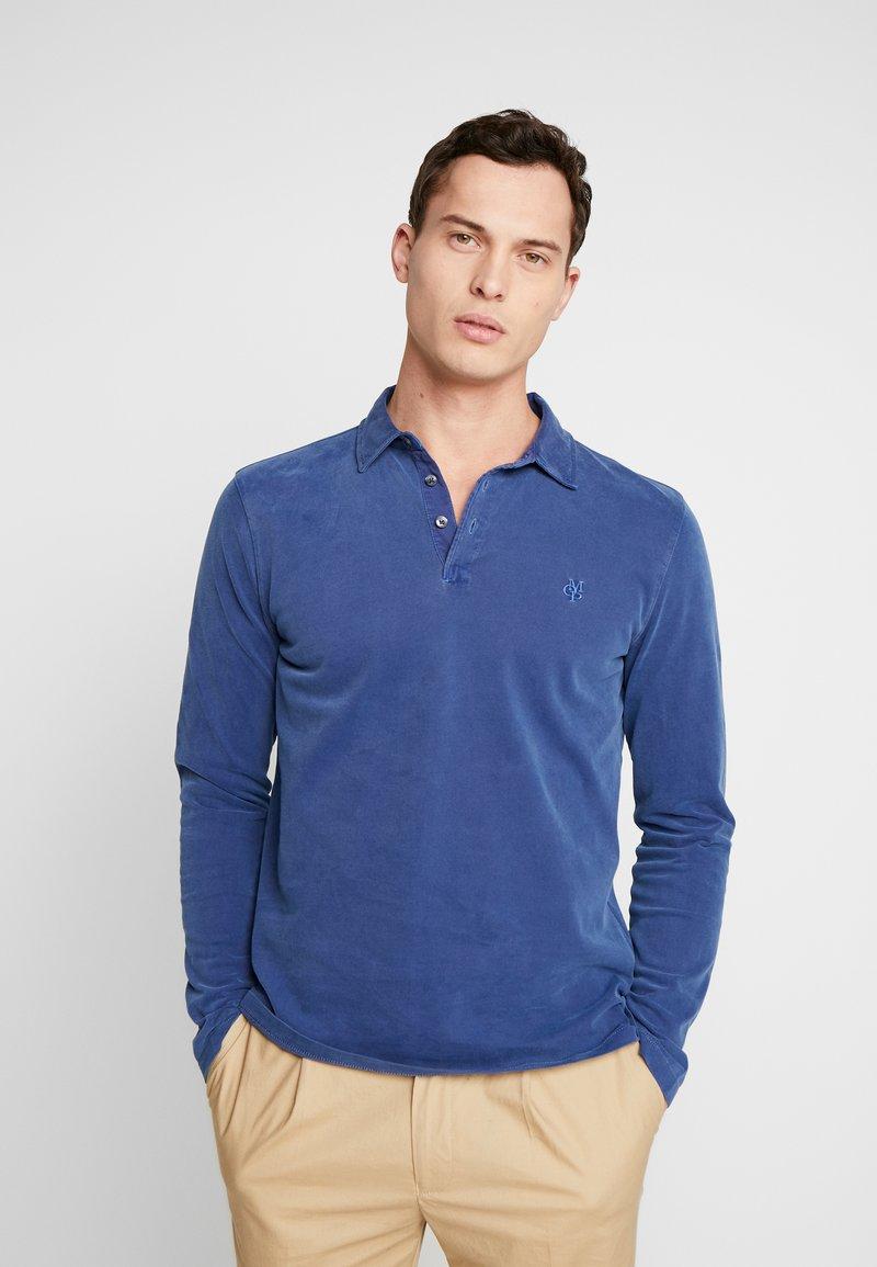 Marc O'Polo - LONG SLEEVE - Polo shirt - navy peony