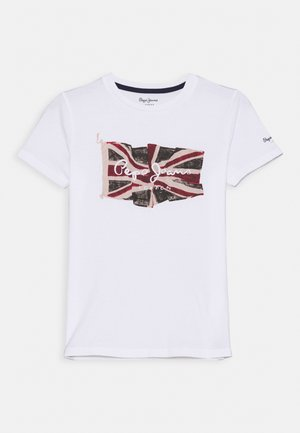 FLAG LOGO  - Camiseta estampada - optic white