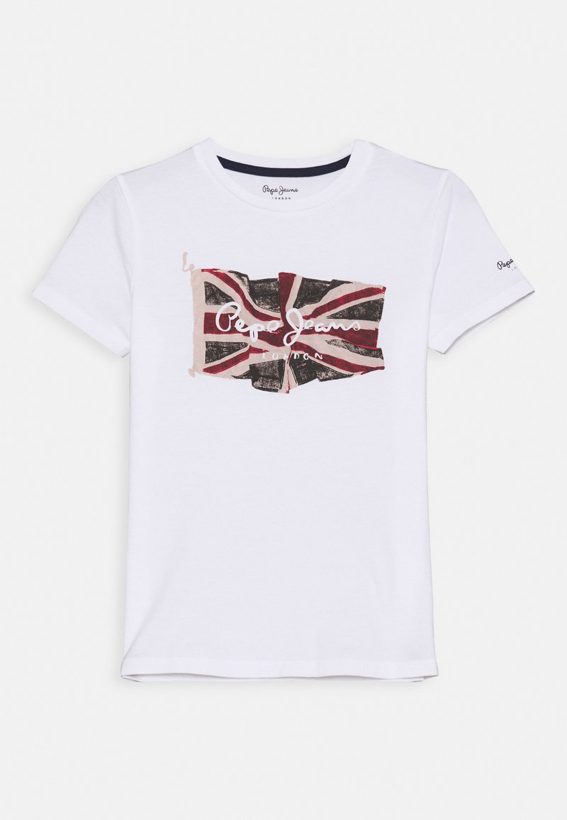 Pepe Jeans - FLAG LOGO  - Print T-shirt - optic white