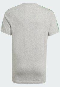 adidas Performance - ADIDAS ESSENTIALS 3-STRIPES T-SHIRT - Print T-shirt - grey - 1