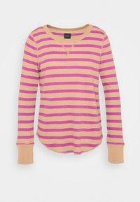 GAP - WAFFLE - Long sleeved top - purple stripe - 0