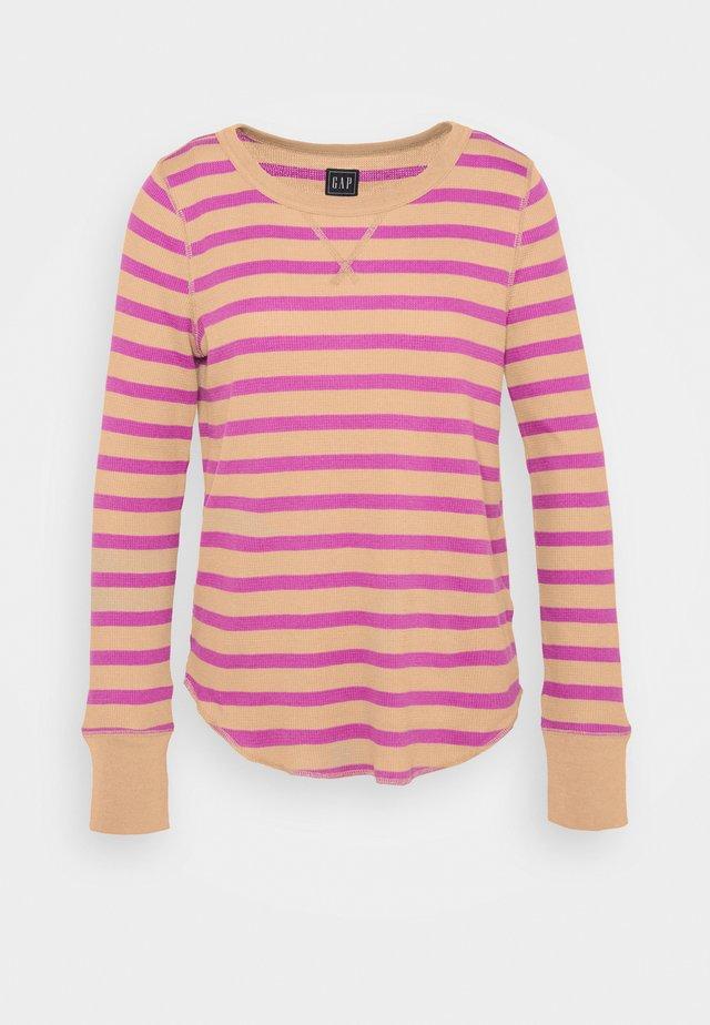 WAFFLE - Long sleeved top - purple stripe