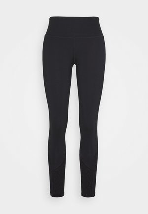 EXCLUSIVE LEGGINGS WITH PANELS - 3/4 sports trousers - black