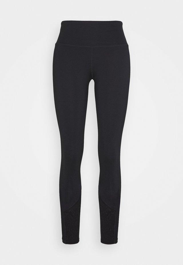EXCLUSIVE LEGGINGS WITH PANELS - Pantaloncini 3/4 - black