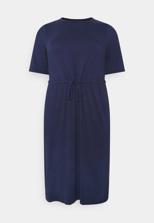 PAULA DRAWSTRING WAIST DRESS - Vapaa-ajan mekko - indigo
