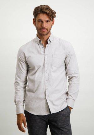 Shirt - silver grey/white