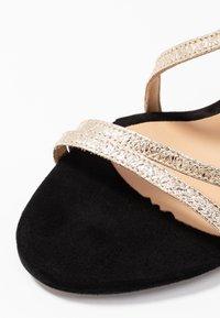 PERLATO - High heeled sandals - or/noir - 2