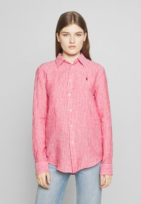 Polo Ralph Lauren - RELAXED LONG SLEEVE - Button-down blouse - red/white - 0