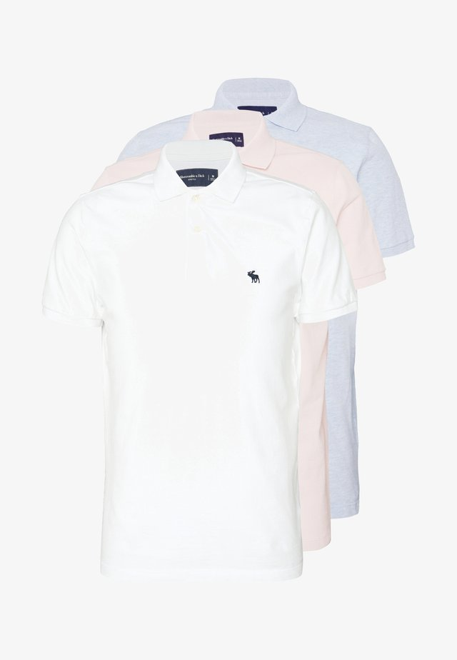 MULTIPACK 3 PACK - Polo - white/ sepia rose/ blue heather