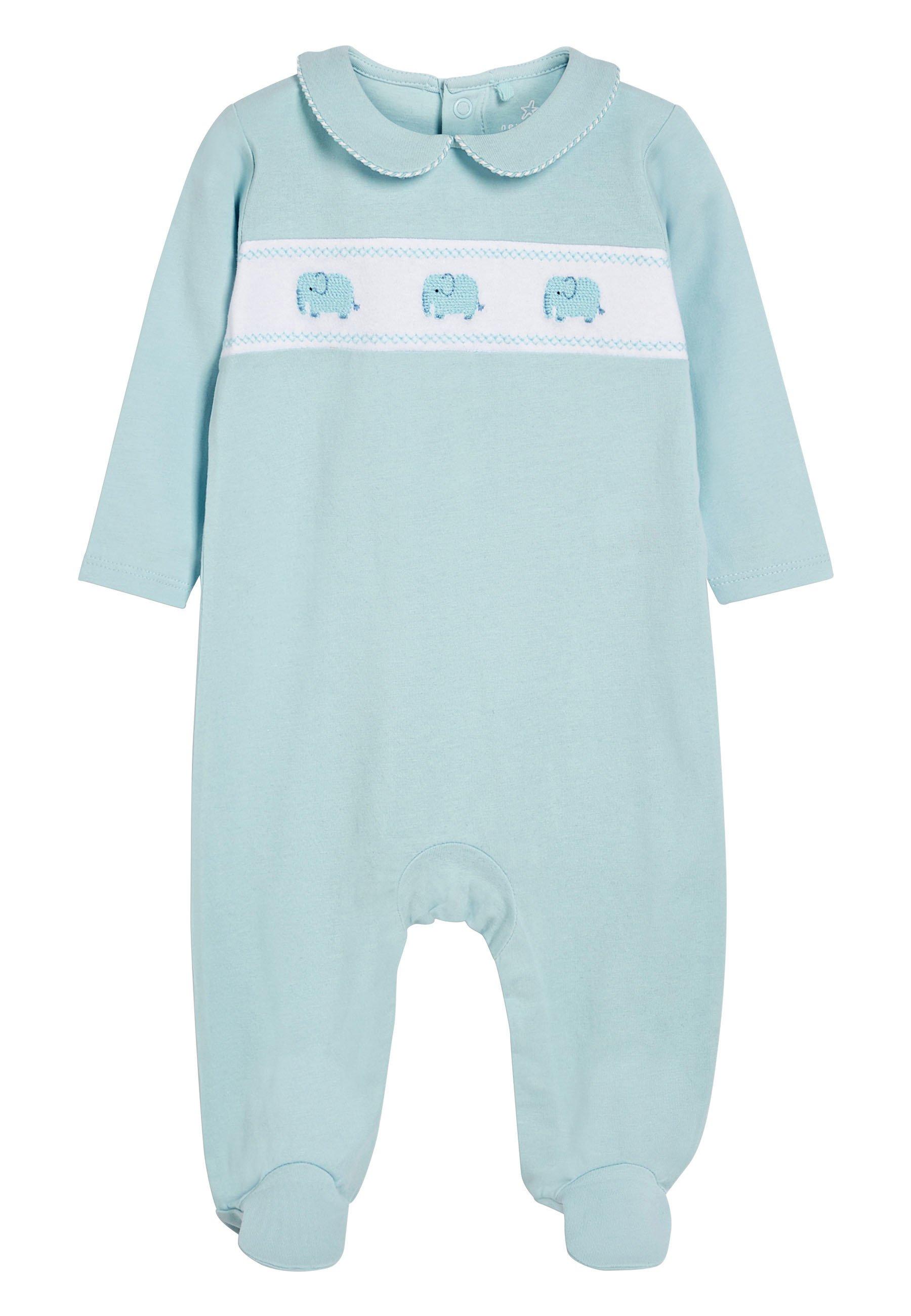Niño BLUE SMART ELEPHANT SLEEPSUIT (0MTHS-2YRS) - Pijama