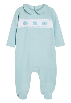 BLUE SMART ELEPHANT SLEEPSUIT (0MTHS-2YRS) - Pyjamas - blue