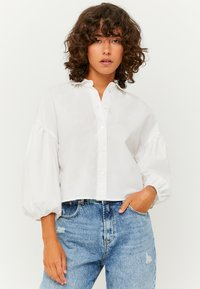 TALLY WEiJL - PUFFÄRMELN - Button-down blouse - whi006 - 0