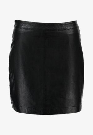 LISA - Leather skirt - black