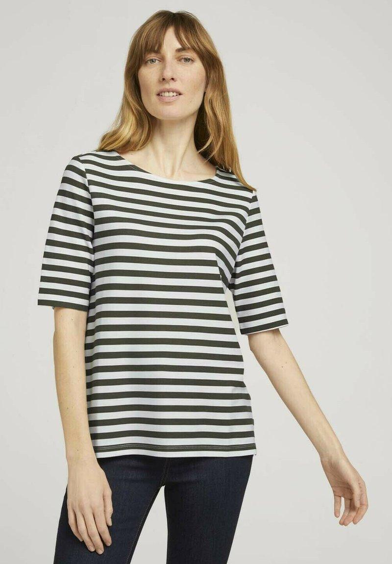 TOM TAILOR - Camiseta de manga larga - green horizontal stripe