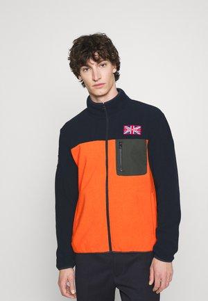 POLAR - Fleecová bunda - navy/orange