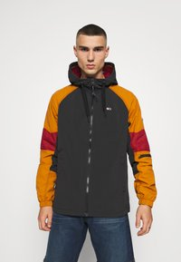 Tommy Jeans - MIX FABRIC ZIPTHROUGH - Kurtka wiosenna - black/multi - 0