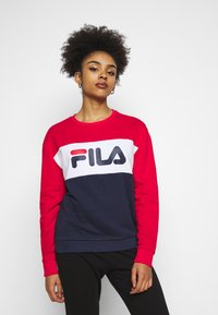 Fila Petite - LEAH CREW - Sweatshirts - black iris/true red/bright white - 3