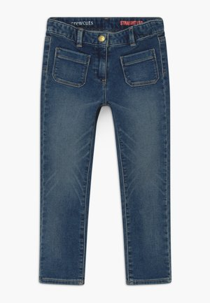 STRAIGHT LEG HEART KNEE - Straight leg jeans - light-blue denim