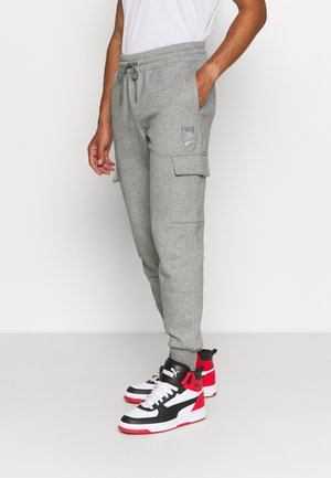 BOOSTER PANT - Tracksuit bottoms - medium gray heather