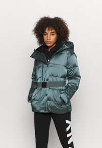 DKNY - BELTED PUFFER - Training jacket - blue - 2
