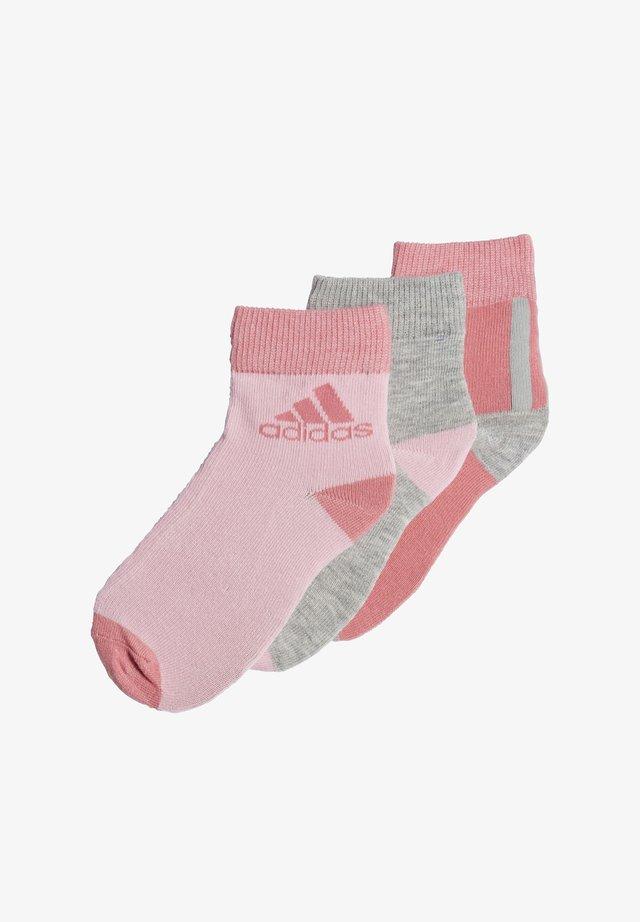 ANKLE SOCKS 3 PAIRS - Calcetines de deporte - pink