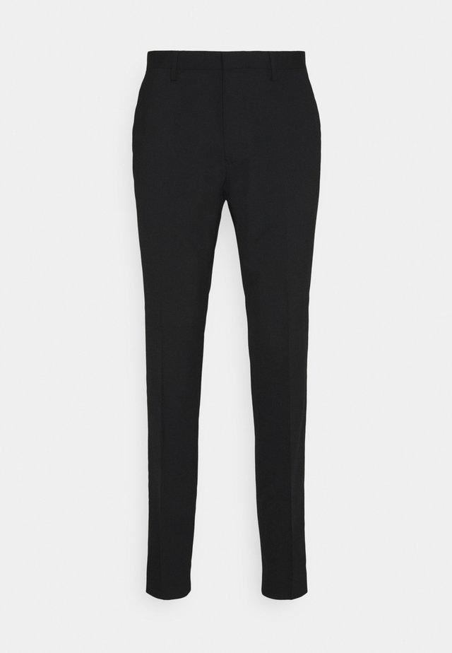 THODD - Oblekové kalhoty - black