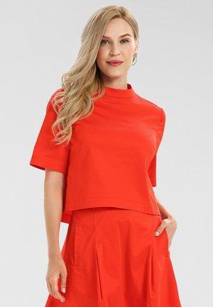 Blouse - orangerot