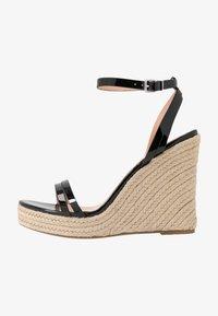 Even&Odd Wide Fit - Korolliset sandaalit - black - 0