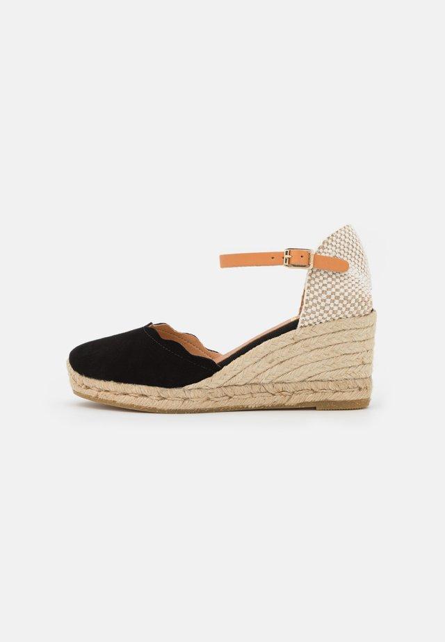 LAURA - Sandalen met plateauzool - schwarz