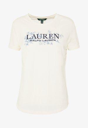 LIQUID - Print T-shirt - mascarpone cream