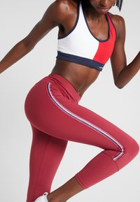 Tommy Sport - CLASSIC - Leggings - red - 3