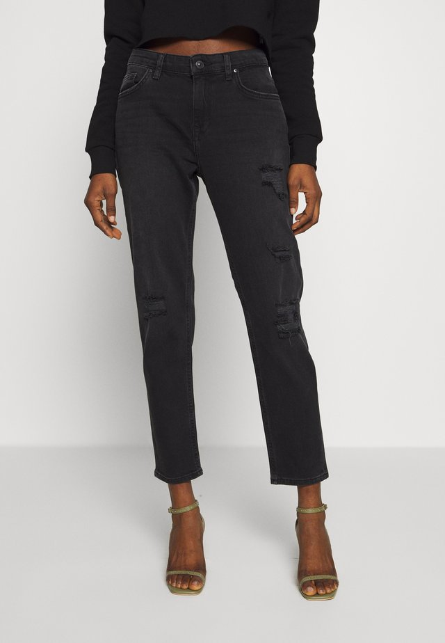 ELIANA - Jeansy Relaxed Fit - great black wash