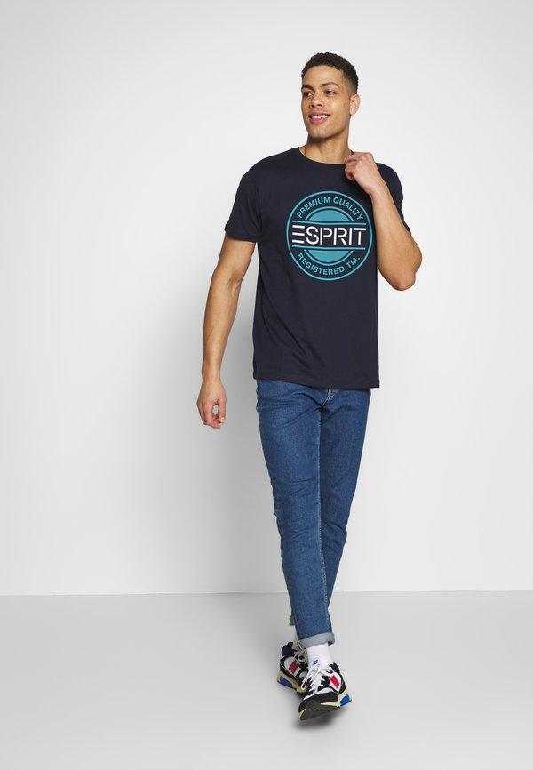 Esprit 2 PACK - T-shirt z nadrukiem - navy/granatowy Odzież Męska UIUS