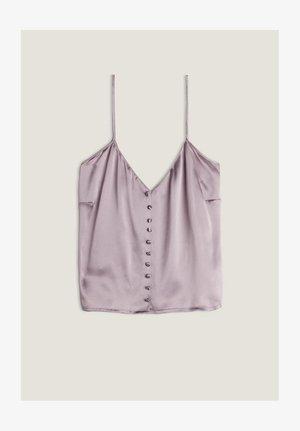 MIT KNÖPFEN - Pyjama top - violett - 497i - soft mauve
