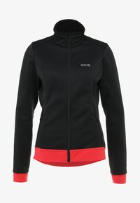 Gore Wear - THERMO  - Soft shell jacket - black/hibiscus pink - 5
