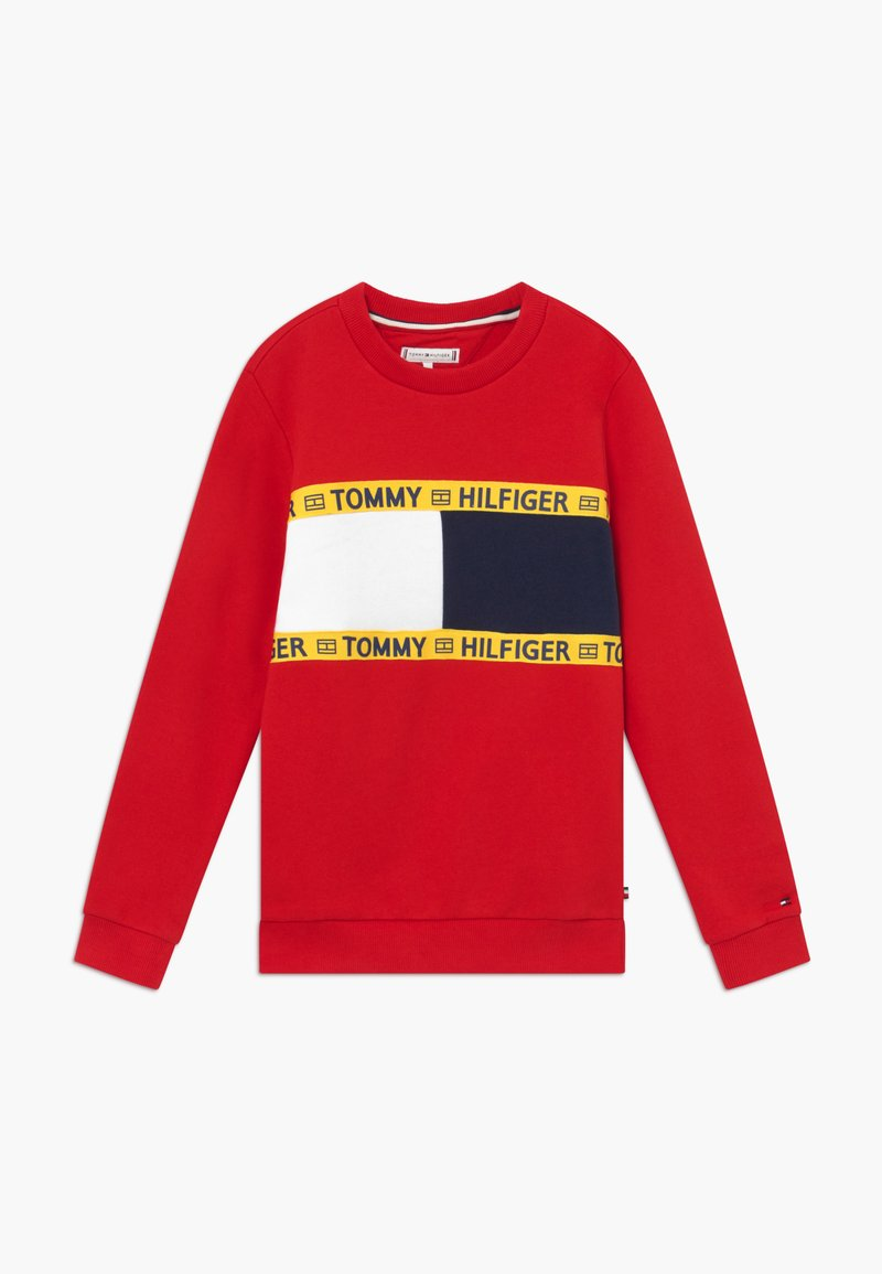 Tommy Hilfiger - FLAG CREW  - Mikina - red