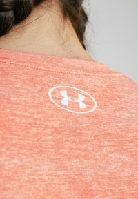 Under Armour - TECH TWIST - Basic T-shirt - peach plasma/metallic silver - 5