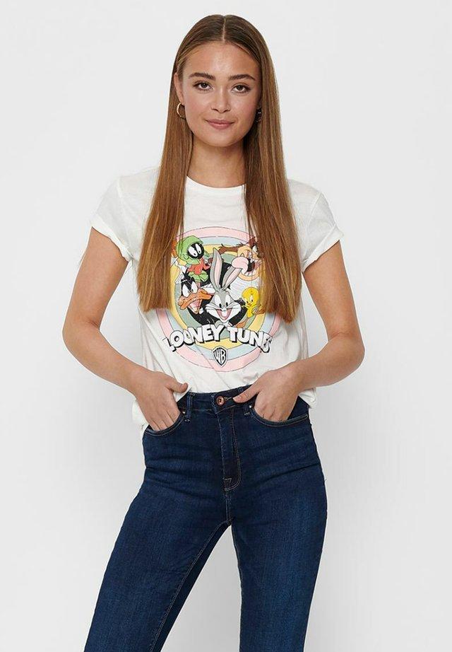 T-shirt imprimé - cloud dancer
