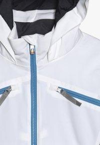 Spyder - GIRLS CONQUER - Lyžařská bunda - white/turquoise - 4