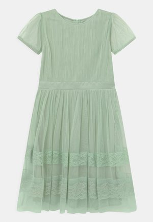PUFF SLEEVES AND BOW BACK - Cocktail dress / Party dress - misty jade
