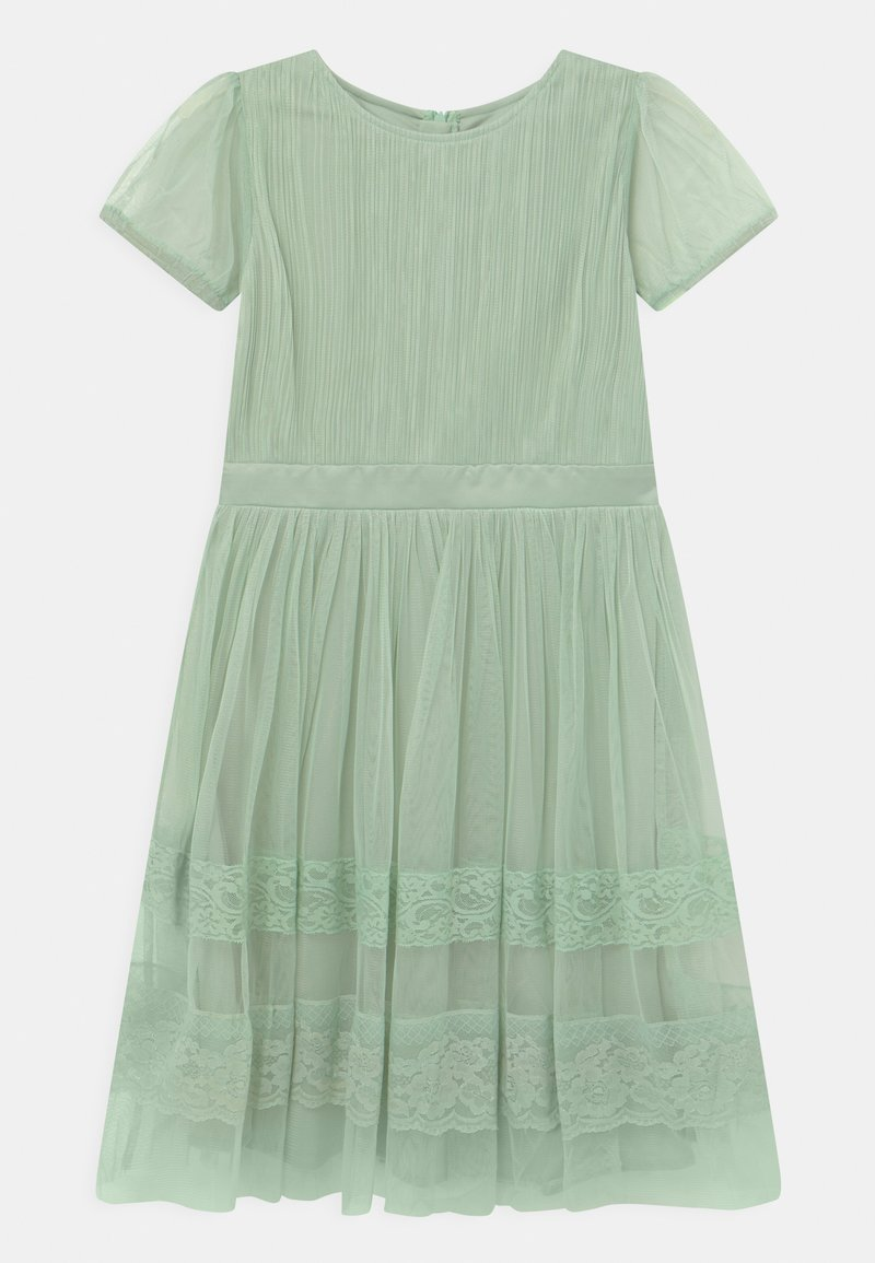 Anaya with love - PUFF SLEEVES AND BOW BACK - Cocktailkjole - misty jade
