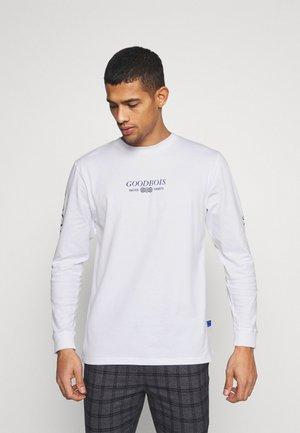 TRADEMARK LONGSLEEVE - Pitkähihainen paita - white